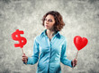 Girl chooses money