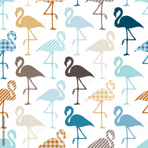 Seamless Pattern Flamingos Pattern Retro © Jan Engel