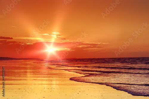 beach sunset - 49522367