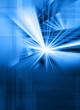 blue digital light burst