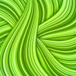 Green hair waves abstract background