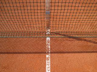 Tennisplatz Linien mit Netz 72
