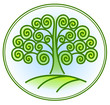 nature and environment icon with tree