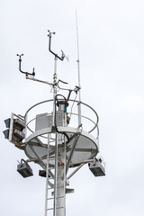 Beacon with Wind measuring Station, Travemuende