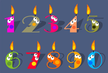 Funny Birthday Number Candles Set
