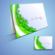 Irish shamrock leaves greeting or gift card for Happy St. Patric