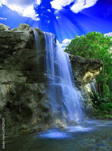 Magical waterfall - 49524528
