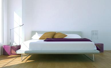 Modernes helles Schlafzimmer