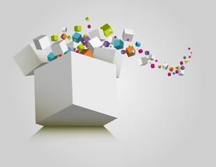 cubes abstrait