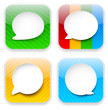 Web speech bubble app icons.