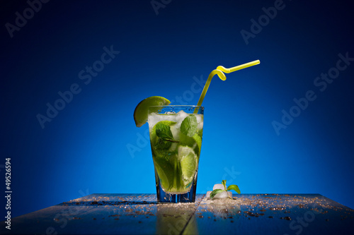 fresh coctail with lime