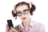 Smart Woman Accessing Mobile Phone Apps