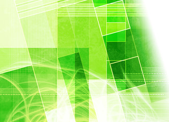 green shape abstract