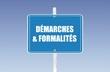 panneau démarches & formalités
