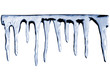 icicles on white background with photoshop path