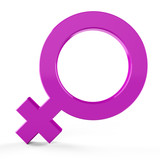 3D female symbols... 3D female signs