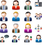 Business people avatar communication isolated on white EPS 10