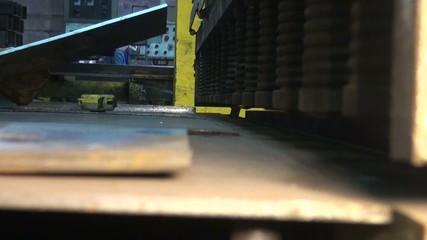 heavy springs press on metal