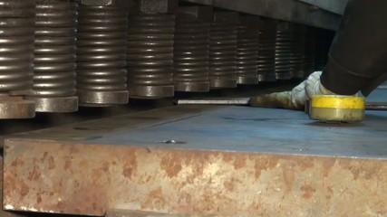 big machine in the factory, metallpress