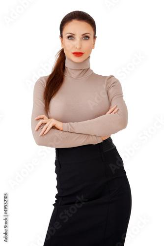 Glamorous brunette lady