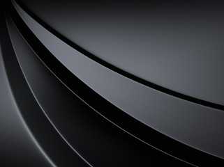 Elegant metallic background with curve lines