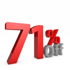 71 Percent off