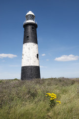 Spurn Point Lighthouse, Humberside, UK.