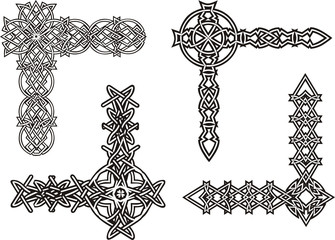 Celtic decorative knot corners