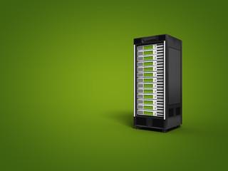 Webserver auf grünem Hintergrund
