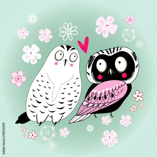 graphic funny love owl