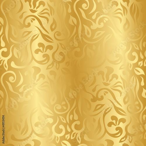 Fototapeta złoto - ozdoba - Tła