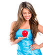 Eve holding the apple