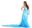 Woman in a beautiful dress