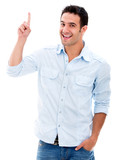Man pointing a great idea