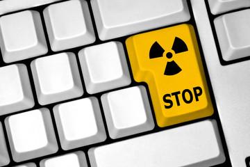 Tasto stop radiazioni