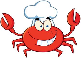 Crab Chef Cartoon Mascot Character