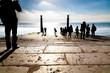 Turistas en la orilla del Tajo - Lisboa
