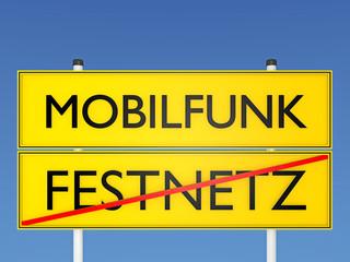 Mobilfunk vs Festnetz - 3D