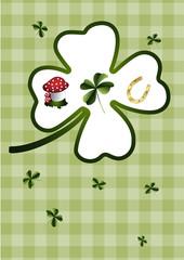 Kleeblatt und Glücksbringer