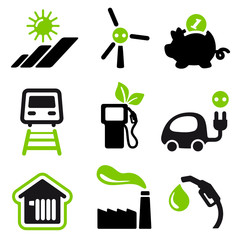 Useful icons green energy