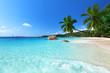 Leinwanddruck Bild - Anse Lazio beach at Praslin island, Seychelles