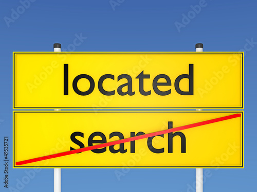 located vs search - 3D