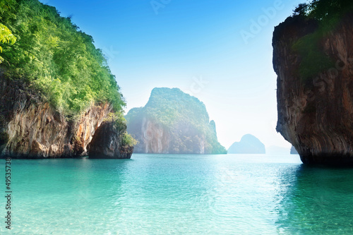 beach of small island in Adaman sea, Krabi Province, Thailand