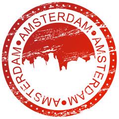 Stamp - Amsterdam, Netherlands