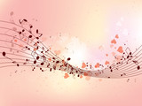 Fototapety Abstract design background with colourful music notes