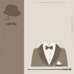 Greeting card for man. Retro vector illustration