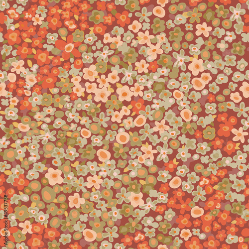 vintage ditsy seamless floral background