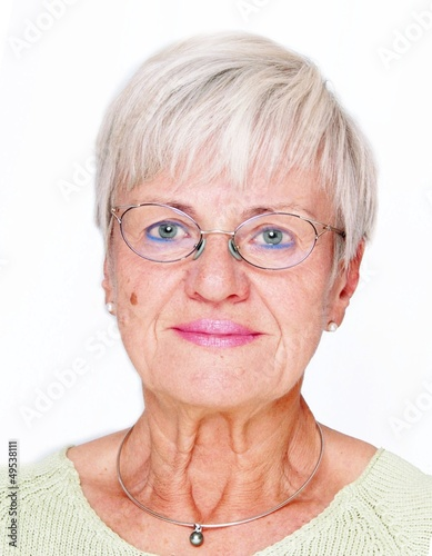 Biometric Image of an Elderly lady