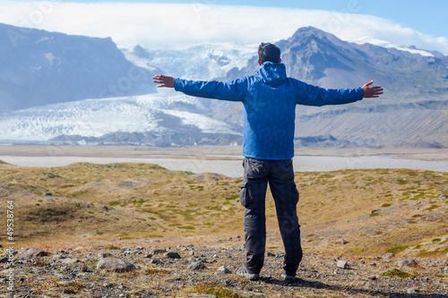 Man Admiring Glacier