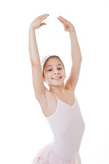 young girl dancing classical ballet